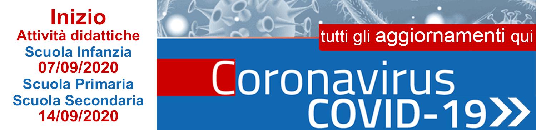 CORONAVIRUS - Tutti gli AGGIORNAMENTI